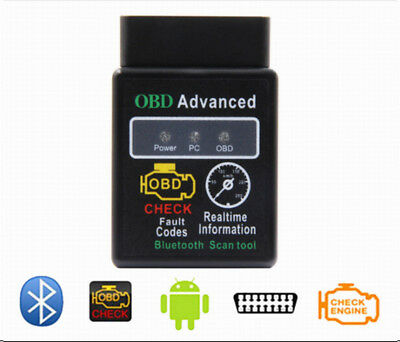 ELM327 Bluetooth OBD2 Scan Tool For Android PC Car OBDII Engine Data Code Reader