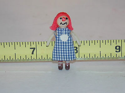 Raggedy Ann Style Mini Doll for your doll Toy Nursery Girl Dollhouse Miniature