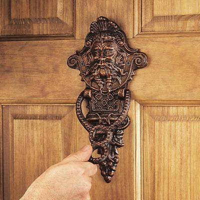 19th Century Victorian Antique Replica Manor Greenman Door Knocker