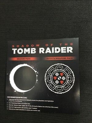 Shadow of tomb raider season pass and outfits weapons pack xbox one DLC NO GAME
