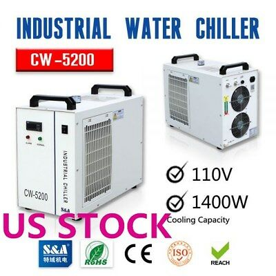 CW-5200DG Industrial Water Chiller for One 130W / 150W CO2 Glass Laser Tube Cool