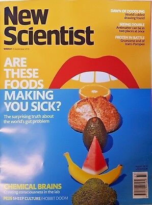 New Scientist magazine 2018 = 25TH AUG # 3195 = ARE THESE FOODS MAKING YOU SICK?
