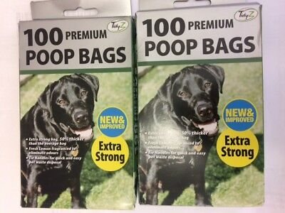 DOGGY BAGS - Scented Pet Poop Bag Dog Cat Poo Waste Toilet Poop new improved