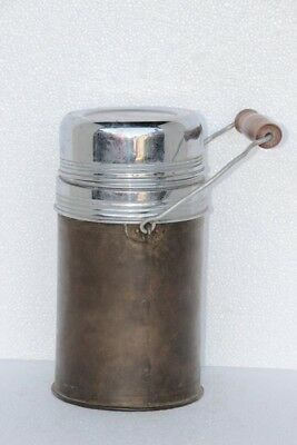Old Vintage Antique Rare Brass Thermos Decorative Collectible J-59