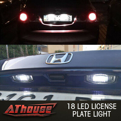 18 LED License Plate Light Direct Fit For Acura TL TSX MDX Honda Civic Accord