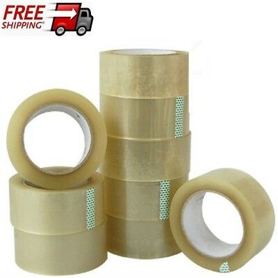 36 ROLLS STRONG CLEAR PARCEL PACKING TAPE 48MM x 50M PACKAGING REMOVAL SELLOTAPE