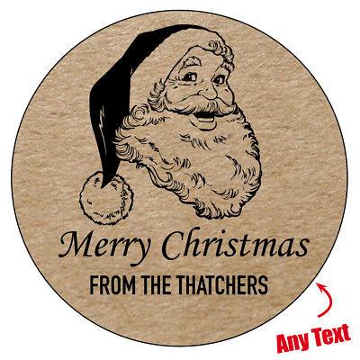 VINTAGE CHRISTMAS Personalised Wrapping Seal Stickers Present Gift Label 987