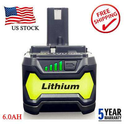 6.0Ah P108 Max Lithium Battery for Ryobi 18V Ryobi ONE+ P108 P102 P103 P105 P107