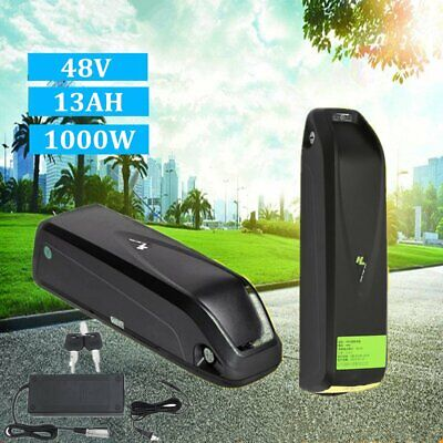 Hailong E-Bike 48V 13Ah Lithium Lion Battery with Charger for 1000W motor Black