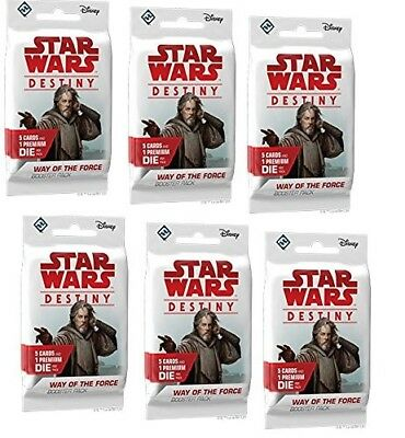 Star Wars Destiny - Way of the Force x6 Booster Packs Sealed from box