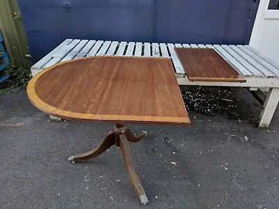 19th Century Mahogany Dining Table with Satinwood Banding - Spares or Repair
