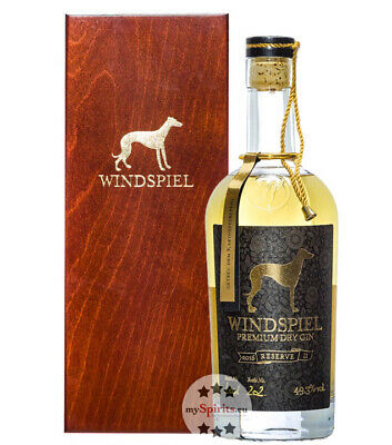 Windspiel Premium Dry Gin Reserve / 49,3 % Vol. / 0,5L-Flasche in Holzschatulle