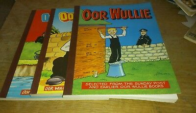 3 Oor Wullie Annuals, 1970S /80S