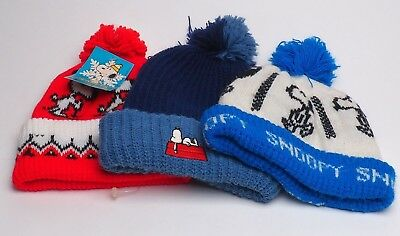 Lot Of 3 Snoopy Knit Hats