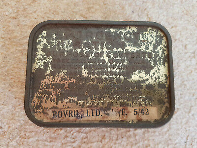 Ww2 British Army Emergency Ration Tin & Contents