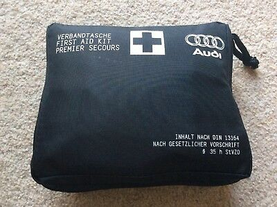 Audi First Aid Medical Emergency Kit - A1 S1 A4 A5 Q7 A7 Q5 - Expiry 05/2021