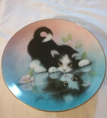 """Rainy Day Friends Collectable Plate """"Curious Kittens"""" By Bob Hanson Number 3891A"""