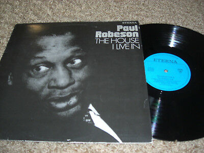 Paul Robeson singt The House i Live in Vinyl LP Amiga 1983 # DDR #