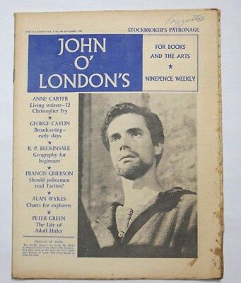Vintage British Literary Magazine Christopher Fry John O Londons Weekly Books