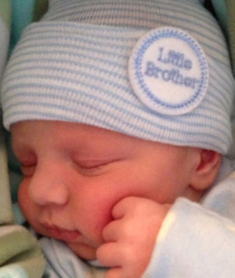 NEWBORN HOSPITAL HAT for Boy LITTLE BROTHER