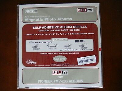 Pioneer Magnetic Photo Album Pages, For PMV-206 Album, 5 Sheets (10 pages)