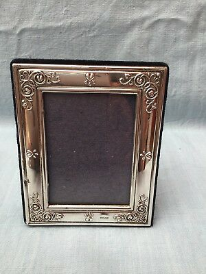 Vintage CARRS Silver Mounted Easel Photo Frame - Art Nouveau Flowers Sheffield