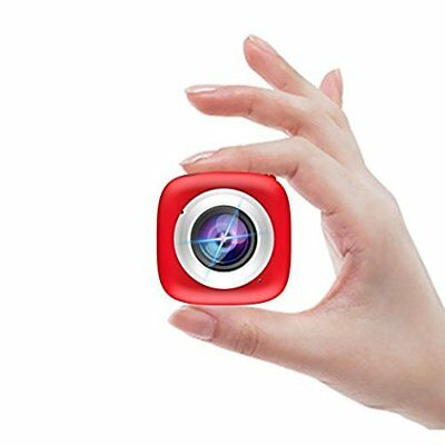 Mini Sports Camera Selfie HD WiFi Action Multi-Functional APP Remote Control RED