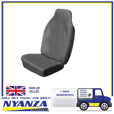 Heavy Duty Single Seat Protector Durable Material Universal Size Grey