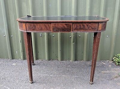 Regency Georgian Leather Topped Console Table with Secret Drawers c.1830
