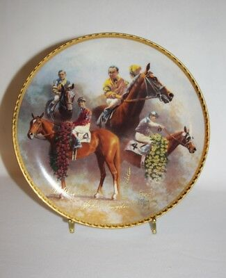 Artist FRED STONE - The American Triple Crown 1937-1946 Plate - 1021/2500