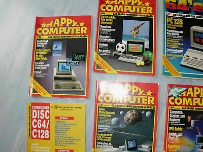 Happy Computer C64 Magazine , 64er Magazin , Compute mit,Commodore DISC Magazin