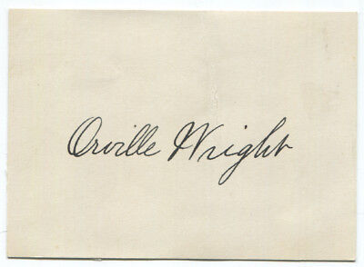 Orville Wright Signed Card