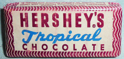 -Rare- WWII -Hershey's- Vintage US Army Ration Tropical Chocolate Candy Bar- NOS