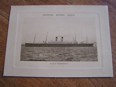 White Star Line Rms Adriatic Abstract Of Log 1923 Took Titanic Survivors Home