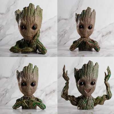 Guardians of Galaxy Baby Groot Tree Man Doll Flower Pot Penpot Kids Toy Gift Set