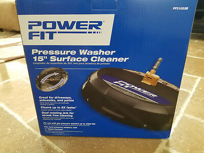 "Powerfit 15"" Gas Surface Cleaner Patio Deck Driveway Pressure Washer Attachment"