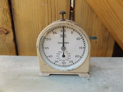 Vintage Smiths English Clock Systems Working Seconds Timer