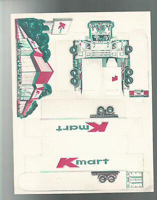 VINTAGE PAPER TOY KMART TRUCK TRAILER & SMALL FRY MENU 1978 Ad Art Litho Co OHIO