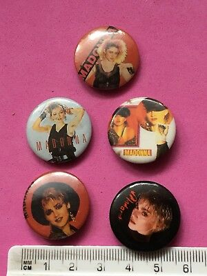 5x Different Madonna Pin Badges (see pics)