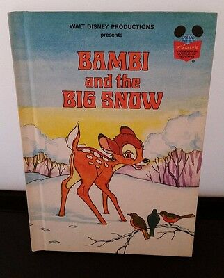 Disney's Wonderful World of Reading: Bambi and the Big Snow, Vintage Book