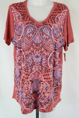 0aa519aeb4586 NWT FOREVER 21 Plus Size Pink and Red Maybe Someday Graphic T Shirt ...