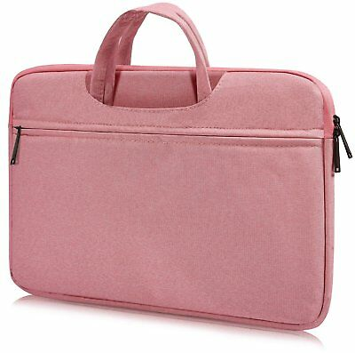 "CaseBuy Laptop Sleeve Case, 15.6"" Pink Zipper Fleece, Water Resistant Shockproof"