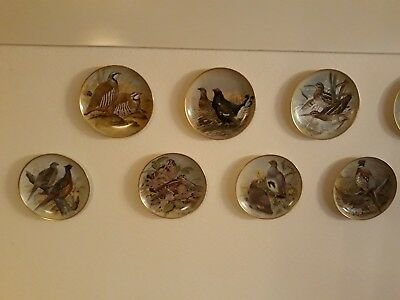 Franklinporcelain  Gamebirds of the world Set 12Sammelteller