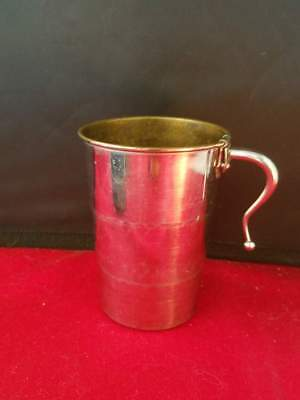 "Antique Vintage Collapsible Cup Silver Plated Germany with Leather Case 3.5""H"