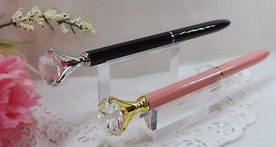 Dark Red Cranberry Swarovski Ballpoint Pen Crystalline Diamond Top with Gift Box