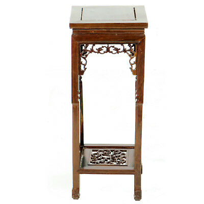 """Vintage Chinese Rosewood Small End Tea Table Plant Stand 10"""" x 10"""" x 26"""" tall"""