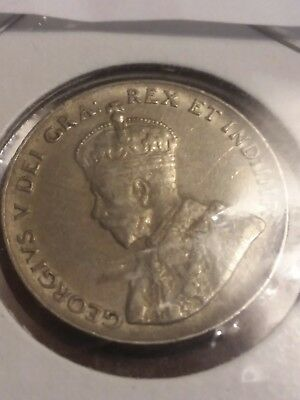 1936 Canadian Maple Leaf Five Cent Nickel Coin - Canada - King George V