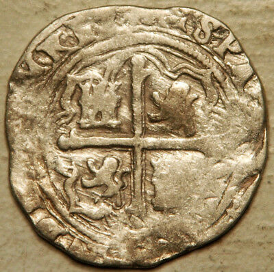 Mexico Silver Cob 2 Reales 1598-1621 -D (1616 Or 1617-34)