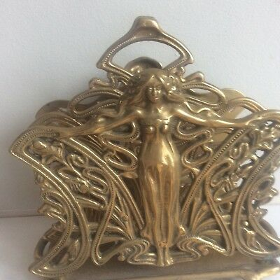 Brass Letter Rack Holder Arts And Crafts Style