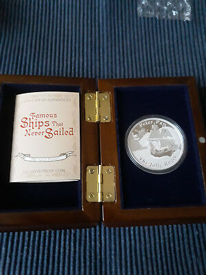 Famous Ships That Never Sailed 2014 Jolly Roger Peter Pan Tuvalu 1oz Silber 1 $
